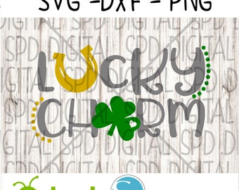 Lucky Charm Svg, St. Patricks Day Svg, DXF, PNG, SVG files for Silhouette and Cricut