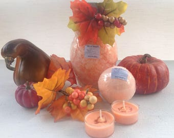 Grapefruit Essential oils Salts and Bath Bombs with Home Made candles