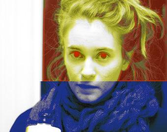 Eyes, High Quality Print by Charles Valsechi