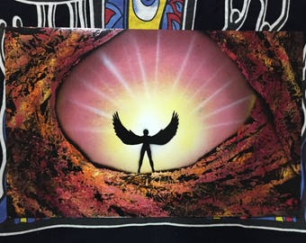 Guardian Angel - Spray Paint Art Poster