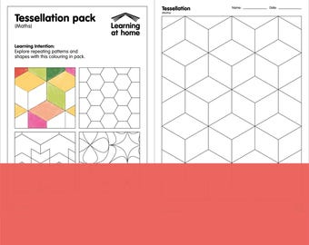 Tessellation Maths colouring in