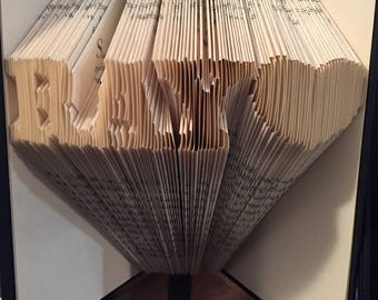 Folded book - Name with heart