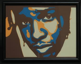 ASAP Rocky 4 Layer Hip-Hop Framed Art