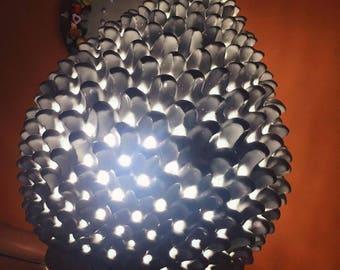 Light cone lamp in precious ceramic of Caltagirone H 45 cm ornament Elegant