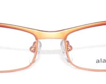 Frame eyeglasses Orange gradient metal - Vintage ALAIN MIKLI A0126 - handcrafted in France