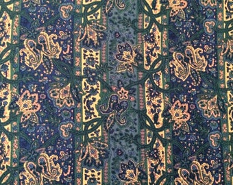 Liberty vintage varuna wool in paisley and floral print