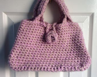 Dusky pink rose bag