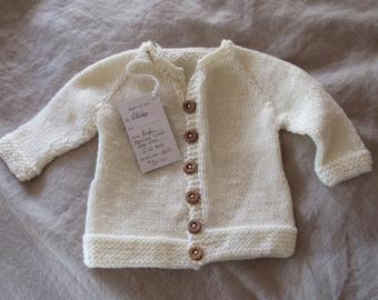 Cream Baby Sweater