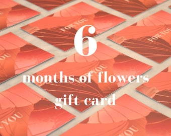 Gift card - 6 months of letterbox stems