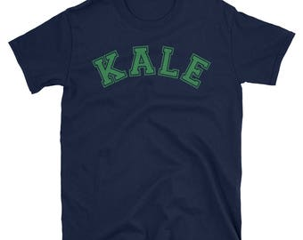 Vegetarian Kale Shirt, Kale Tee, KALE Unisex T-Shirt, Green KALE T-Shirt, funny vegan shirt, Kale University Tee, Vegan Tees, Vegan Top