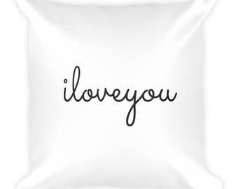 I Love You Throw Pillow, Cute, Girly, Fun, Wedding, Couple, House Decor, Home Decor, Comfortable, Boyfriend, Girlfriend, Couch Pillow