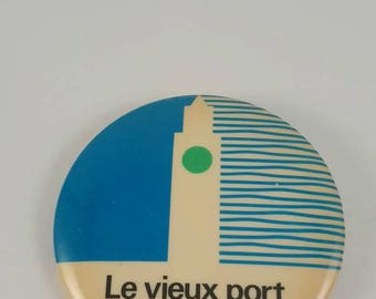 Vintage Old Port of Montreal pinback button