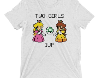 Two Girls, 1up - Short sleeve t-shirt