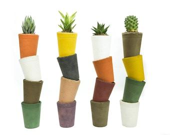 Colored concrete vases-concrete planters