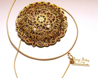 Big pendant etsy gold mandala big pendant the beautiful gift for your favorite women mozeypictures Images