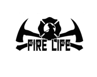 Fire Life Vinyl sticker
