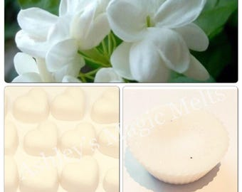 3 jasmine floral scented soy wax melts, flower wax melts, scented gifts, cheap wax melts, highly scented wax, best wax melts