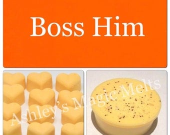 3 Hugo boss orange aftershave designer soy wax melts, strong wax melts, scented wax tarts, best wax melts
