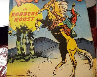 "The Better Little Book "" Roy Rogers in ROBBERS ROOST-Fine book"