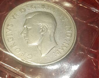 1945   Canada 50 cents silver Half Dollar