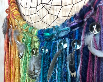 "10"" Blue/ Rainbow Dreamcatcher"