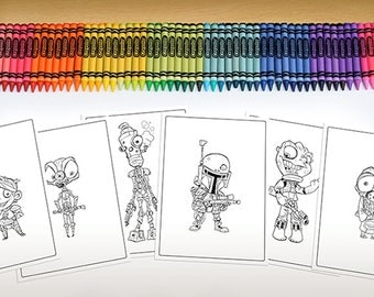 Baby Bounty Hunter Coloring Page Pack - Download & Print!