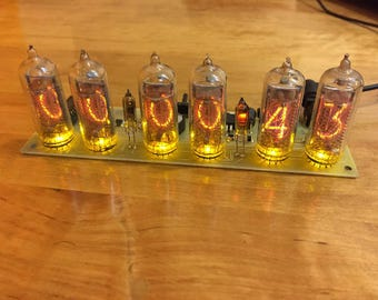 Wonderful gift for valentine's day! in14(6 tube yellow) +Nixie Thermometr in13 yellow
