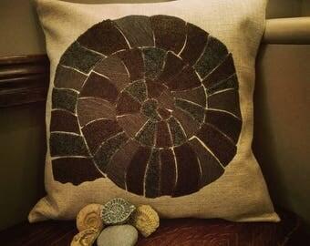 Ammonite Fossil Cushion, Fossil Cushion, Fossil Pillow, Lyme Regis, Rock Cushion, Nature, Jurassic Coast