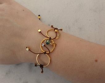 Playful Macrame Bracelet with cube shaped beads
