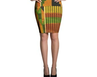 Kente Pencil Skirt III