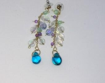 Morning dew drop dangle earrings