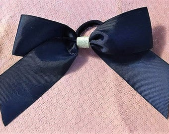 Cheer Bow, Blue Hair Bow, Fancy Bow, Girls Hair Bows, Boutique bow, Big Bows, Girls hair bow, Silver Glitter center, Baby Blue Bow, Big Bow