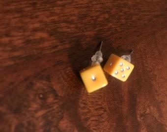 Hand Made Dice Earrings