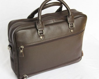 MJ Boss Leather Bag Handmade in Morocco,Brown Color Leather Goods
