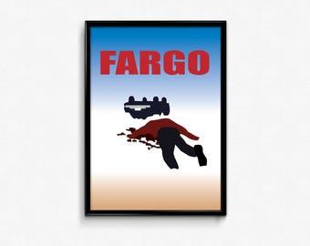 INSTANT DOWNLOAD Fargo Movie Poster, Alternative Movie Poster, Minimalist Movie Print, Film Poster