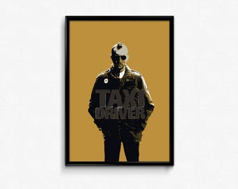 INSTANT DOWNLOAD Taxi Driver Movie Poster, Alternative Movie Poster, Minimalist Movie Print, Film Poster