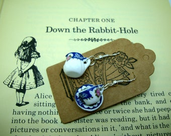 tea cup and saucer ear ring - Alice
