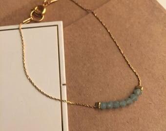 Delicate Swarovski Layering Bracelet - Blue