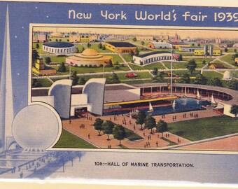 New York World's Fair 1939 Postcard