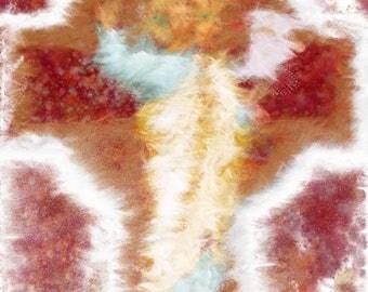 Abstract Painting/Jesus/Digital Print/Instant digital download