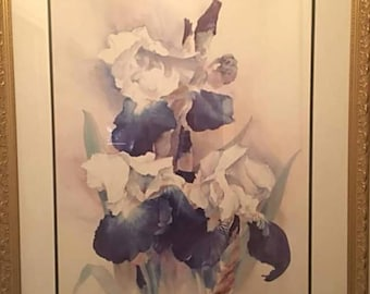 Vintage Iris Flower Wall Decor
