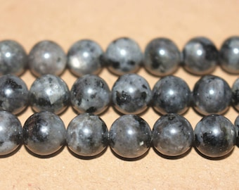15 inches Full strand,Grade A black labradorite smooth round beads 6mm 8mm 10mm 12mm,loose beads,semi-precious stone