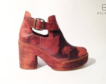 Adele Burgundy Ankle Boot