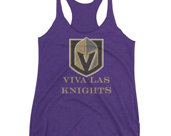 Viva Las Knights Vegas Golden Knights Hockey Women's Racerback Tank
