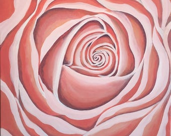 Pink Rose Original Painting
