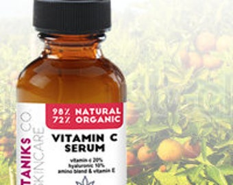 2 Ounce Vitamin C Serum with Hyaluronic Acid and Vitamin E - Wrinkle Repairs Dark Circles, Fades Age Spots and Sun Damage - Serum For Face