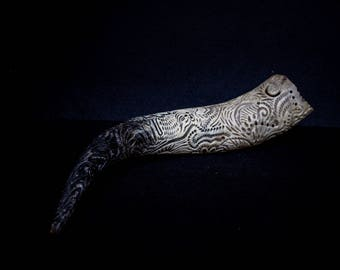 Hand Carved cow Horn