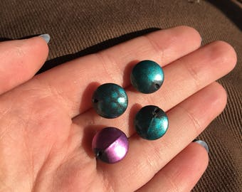 Teal and Purple Studs