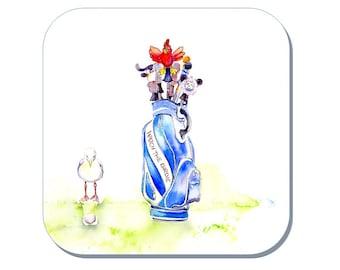 Watch the Birdie - Gentleman's Golf Coaster