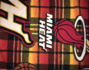 Miami Heat Basket Ball Fleece Blankets